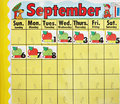 September school calender Stock Image