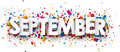 September sign. Royalty Free Stock Photo