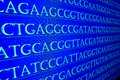 Sequencing the genome. Royalty Free Stock Photo