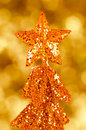 Sequin christmas tree Royalty Free Stock Photos