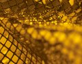 Sequined back a golden abstract reflective background Stock Photo