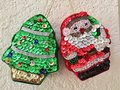 Sequined holiday ornaments