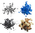 Sequins set of different colors on a white background Royalty Free Stock Photo