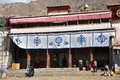 Sera monastery buddhist monastery lhasa one great three gelukpa university monasteries tibet Stock Photography