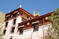 Sera monastery the view of one of the biggest temple of tibet Royalty Free Stock Photo