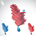 Serbia shaped cable vector illustration of in the form of Stock Photos