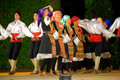 Serbian dance performance Royalty Free Stock Photo