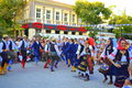 Serbian dancers Royalty Free Stock Photo