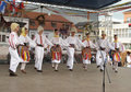 Serbian dancing folklore group Royalty Free Stock Photo