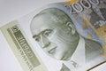 Serbian dinar.Bill of a 2000 dinars Royalty Free Stock Photo