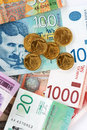 Serbian dinars Stock Photography