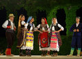 Serbian folk dance group Royalty Free Stock Photo