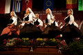 Serbian folk dancers at a festival Royalty Free Stock Photos