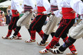 Serbian folklore dancers Royalty Free Stock Photo