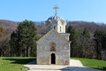 Serbian holy mountain orthodox monastery in fruska gora Stock Photography