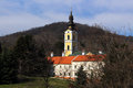Serbian holy mountain orthodox monastery in fruska gora Stock Photos