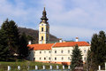 Serbian holy mountain orthodox monastery in fruska gora Royalty Free Stock Photography
