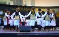 Serbian kids folklore dance group Royalty Free Stock Photo