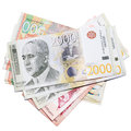 Serbian money Stock Image