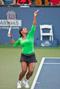 Serena Williams, USA, plays in semifinal game Royalty Free Stock Photos