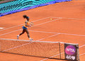 Serena williams at the wta mutua open madrid playing against lourdes dominguez lino th may Royalty Free Stock Image