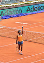Serena williams at the wta mutua open madrid win game against lourdes dominguez lino th may Stock Photo