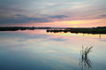Serene summer sunset on lake Royalty Free Stock Photo