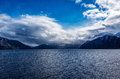 Serene view over Norwegian fjord Royalty Free Stock Photo
