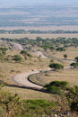 Serengeti road Stock Photos