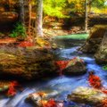 Serenity a beautiful and peaceful place in arkansas Royalty Free Stock Images