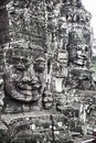 Serenity of faces bayon angkor cambodia unesco world heritage site is one the most important archaeological sites in south east Royalty Free Stock Photos