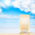 Serenity and peace on a beach Royalty Free Stock Photo