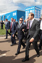 Sergei ivanov and dmitry medvedev zhukovsky russia aug chief of staff presidential administration of russia at the international Royalty Free Stock Image