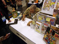 Sergio Aragones drawing at WonderCon 2010 Royalty Free Stock Photos