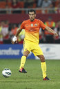 Sergio busquets from fc barcelona during the friendly football match between fc dinamo bucharest and fc barcelona th august Royalty Free Stock Images