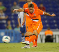 Sergio canales of valencia cf in action during a spanish league match against rcd espanyol at the estadi cornella on august in Stock Photography