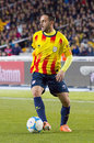 Sergio garcia of catalonia national team the football beat cape verde at the annual christmas friendly match in lluís companys Royalty Free Stock Images