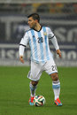 Sergio kun aguero leonel del castillo pictured during the friendly football match between romania and argentina the final score th Stock Image