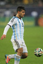 Sergio kun aguero leonel del castillo pictured during the friendly football match between romania and argentina the final score th Stock Photos