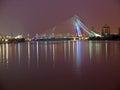Seri Wawasan Bridge in Putrajaya by night Royalty Free Stock Images