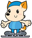 Series Cartoon Little Dog Raci...