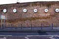 A series of clocks registering the times in major cities