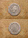 From series: coins of world. England. Royalty Free Stock Image