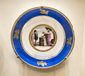 Series of plates with caricatures allegorical and literary sc moscow russia september scenes era factory sholshe museum the Stock Images