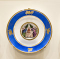 Series of plates with caricatures allegorical and literary sce moscow russia september scenes era factory sholshe museum the Stock Image