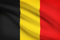 Series of ruffled flags belgium belgian flag blowing in the wind part a Royalty Free Stock Photography
