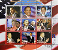 Series of stamps of President Obama Royalty Free Stock Photography