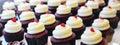 Series van leuke cupcakes Royalty-vrije Stock Afbeelding
