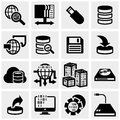 Series vector icons set on gray icon grey background eps file available Stock Photography