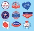 Series of vintage retro logos based on shop local theme Royalty Free Stock Photo